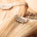 Cortina cosida con clips
